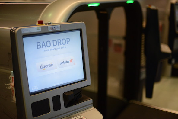 BCS bag drop at Brisbane Airport. Image courtesy of BCS.