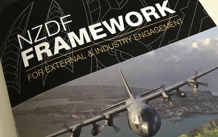 NZDF Framework for External & Industry Engagement - released this year.